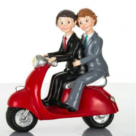Cake Toppers Sposi In Vespa