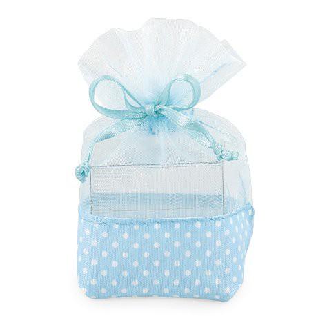 Sacchetto azzurro con scatolina in PVC