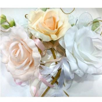 Rose In Stoffa Con 5 Racchette