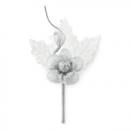 Fiore con bacca oro/argento