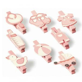 Set 8 mollette baby rosa