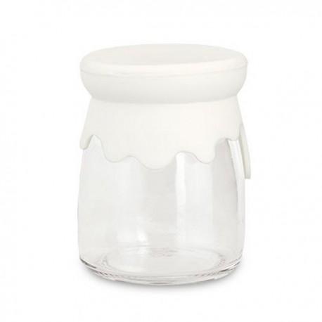 Barattolo vetro tappo silicone 10 pezzi