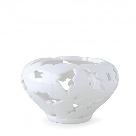 Ciotola traforata farfalle ceramica