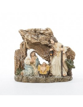 Sacra famiglia in resina