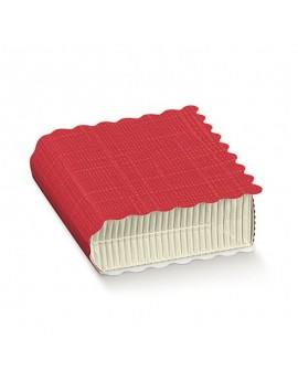 Scatolina libro onda rosso