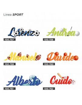 Scritte In Legno Sport