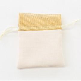 Sacchetto in cotone decoro oro