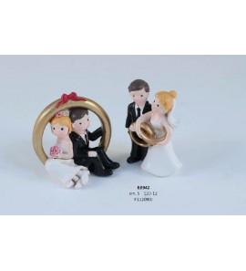 Coppia sposi con anelli