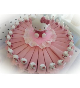 Torta Hello Kitty con fette rosa