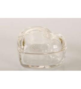 Scatola vetro forma cuore con coperchio