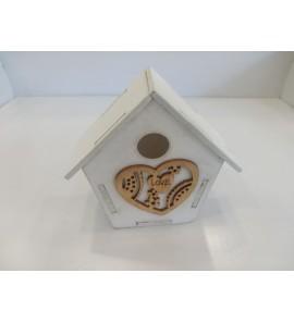 Scatolina gabbietta in legno con scritta Love