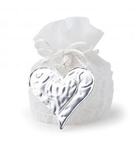 Secchiello 5 confetti in PVC  con applicazione cuore