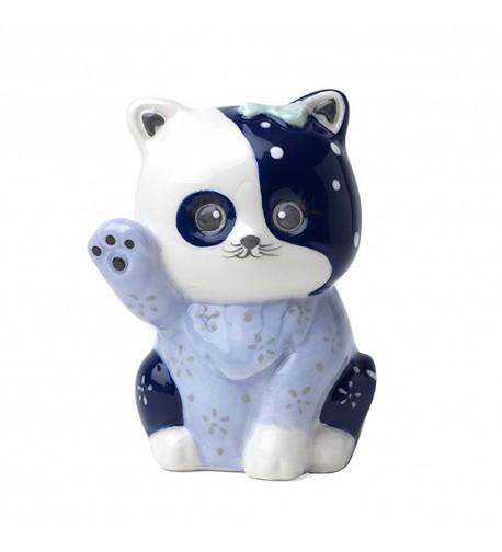 Gattino porcellana blu dipinto