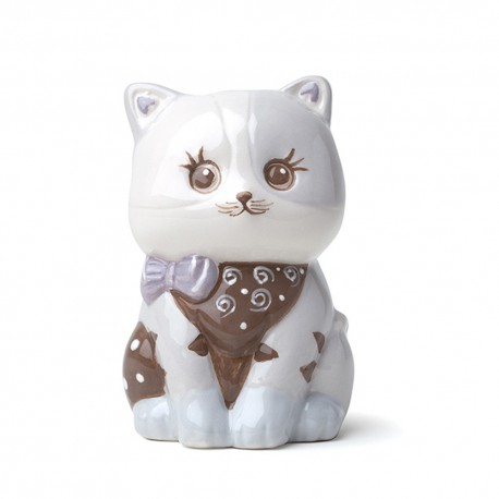 Gattino porcellana grigio dipinto
