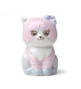 Gattino porcellana rosa dipinto