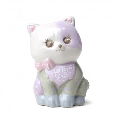 Gattino porcellana lilla dipinto