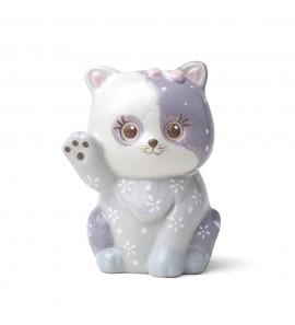 Gattino porcellana viola dipinto
