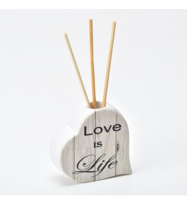 Profumatore Love scritta Love is Life