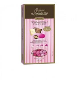 Ciocco mandorla Sfumato rosa con cioccolato Caffarel