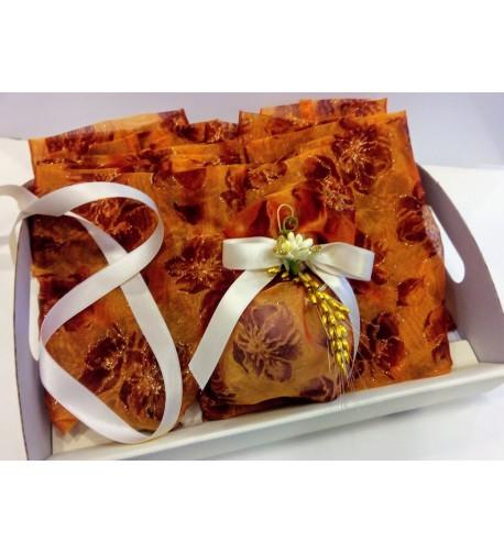 Kit da 20 sacchettini con decori oro