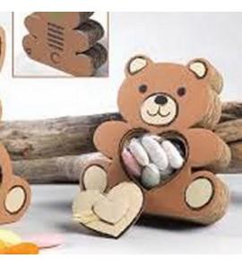 Scatolina cartone orso