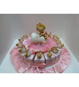 Torta bimba con fagotto